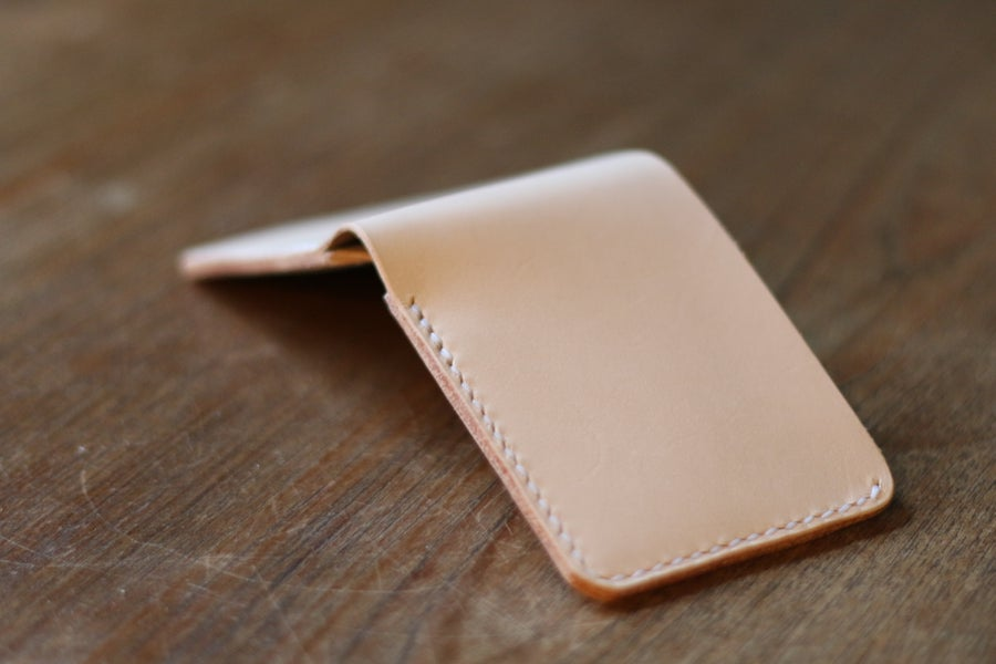Image of Traditional Bifold Wallet in Natural Vegetable Tanned