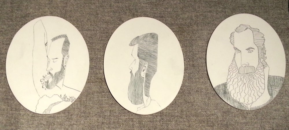 Image of Porcelain Portrait Plates