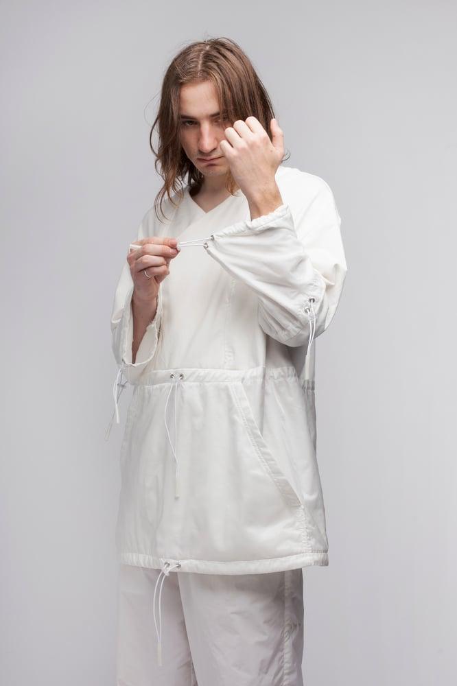Image of Sheer Nylon Poncho Robe