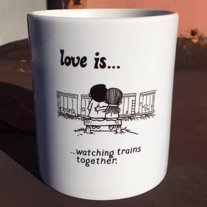 Image of Love Is Trains Mug