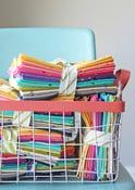 Image of Fat Quarter Bundle of assorted colors Confetti Metallic OMBRE