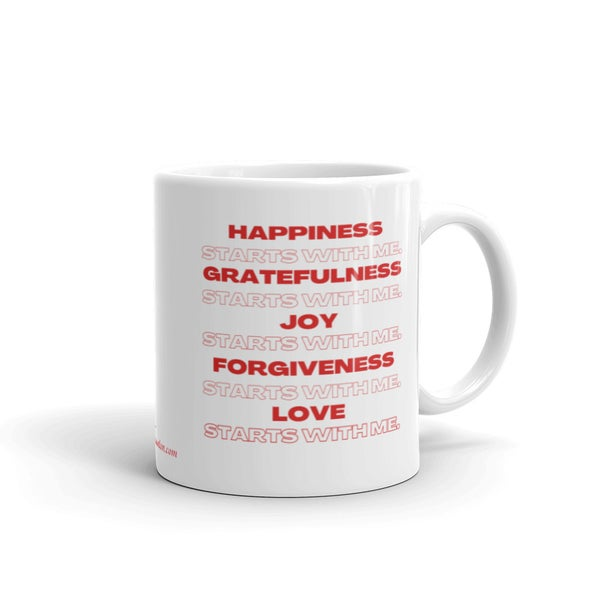 Image of It All Starts With Me Mantra Mug (red)