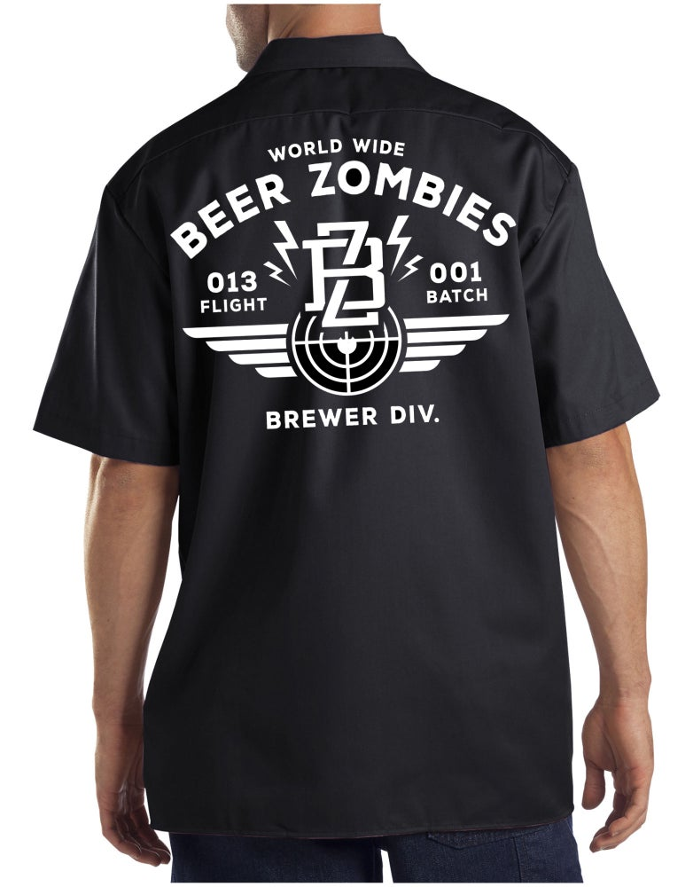 Image of Beer Zombies - Work Shirts, Brewers Division
