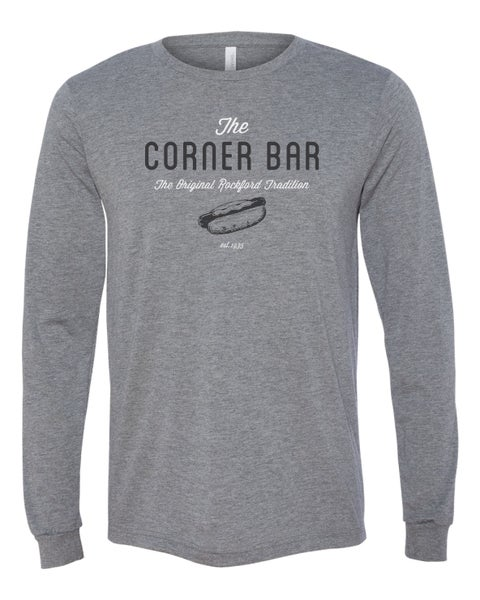 Image of The Retro - Long sleeve gray t-shirt