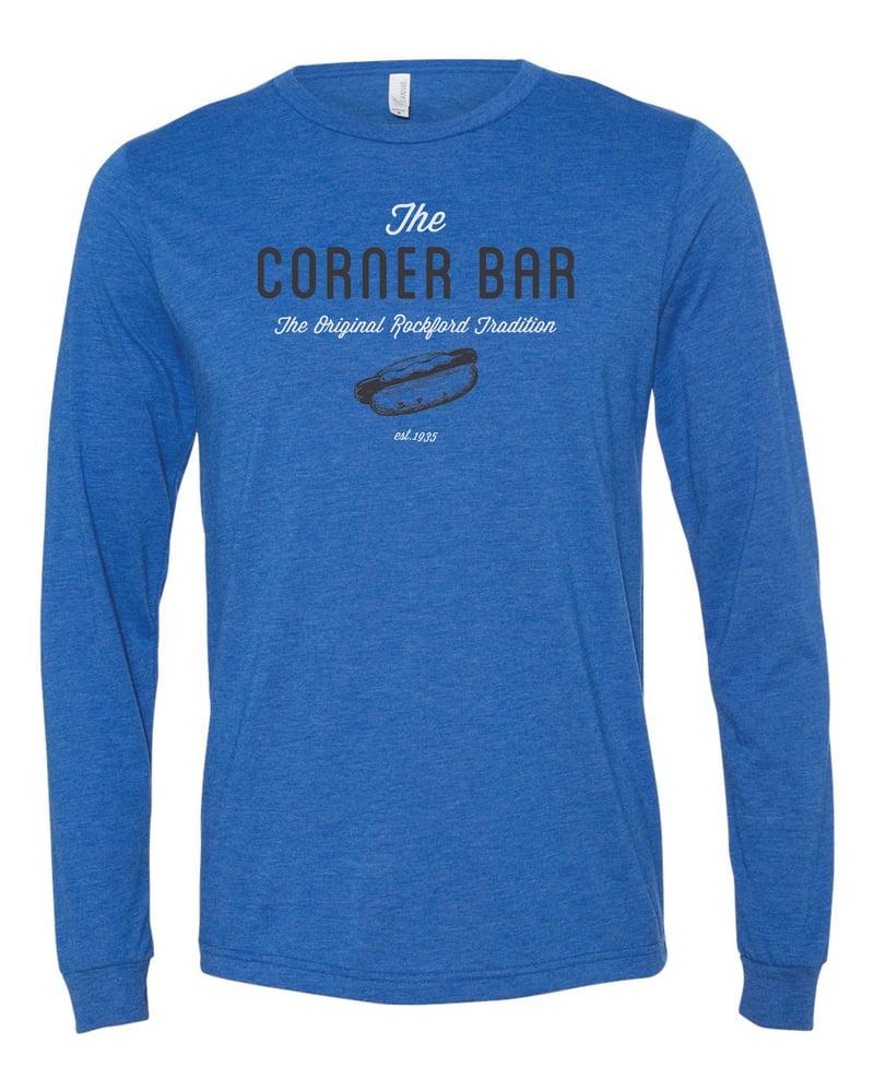 Image of The Retro - Long sleeve royal blue t-shirt
