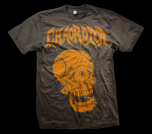 Image of CHAORDICA SKULLCLOPS SHIRT ORANGE