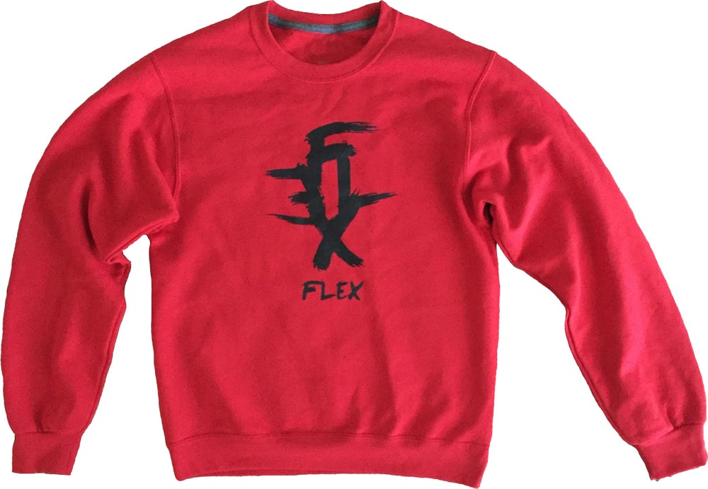 Image of FLEX logo crewneck