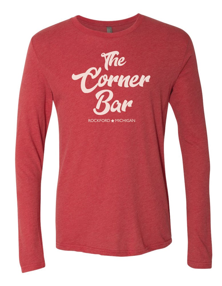 Image of Script - Long sleeve red t-shirt