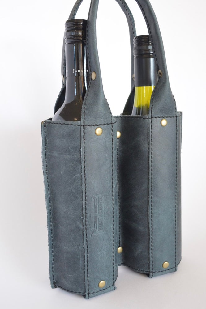 Image of 'Stellenbosch' Leather Wine Carrier