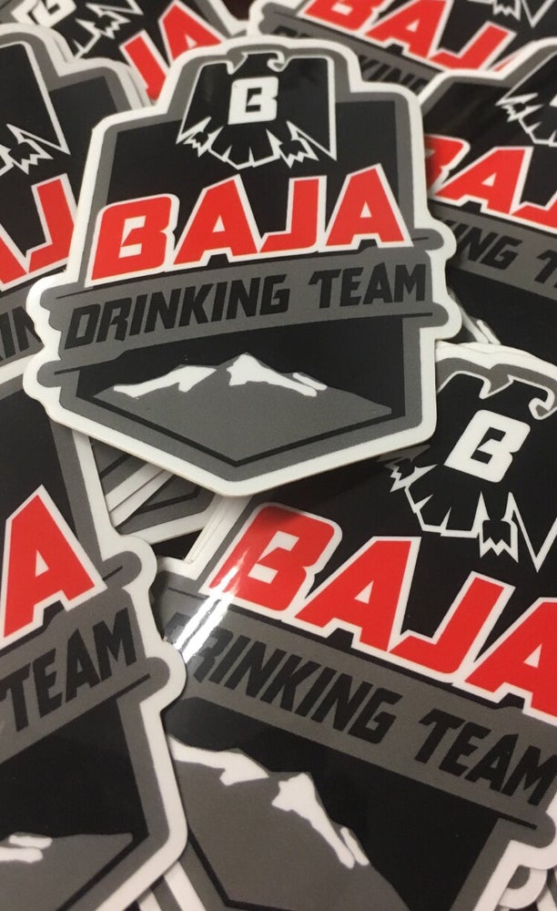 Image of Baja Drinking Team Decal