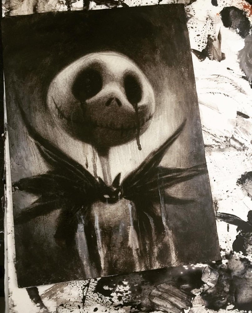 Image of 'THE PUMPKIN KING / { CRYING JACK }' - Museum Archival Miniature Print