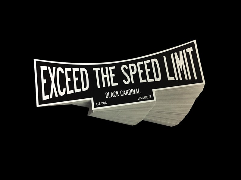 Image of Exceed Speed Limit sticker