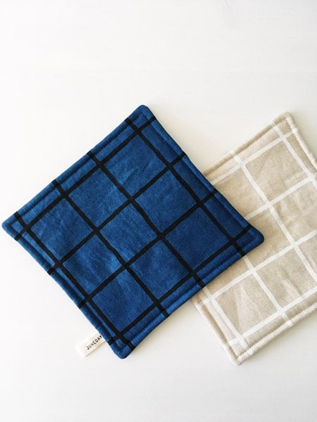 Image of Indigo Grid Hot Pad