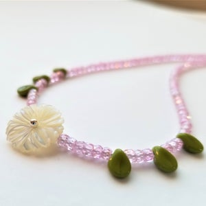 Image of Petite Bloom - Pink with Green Leaves
