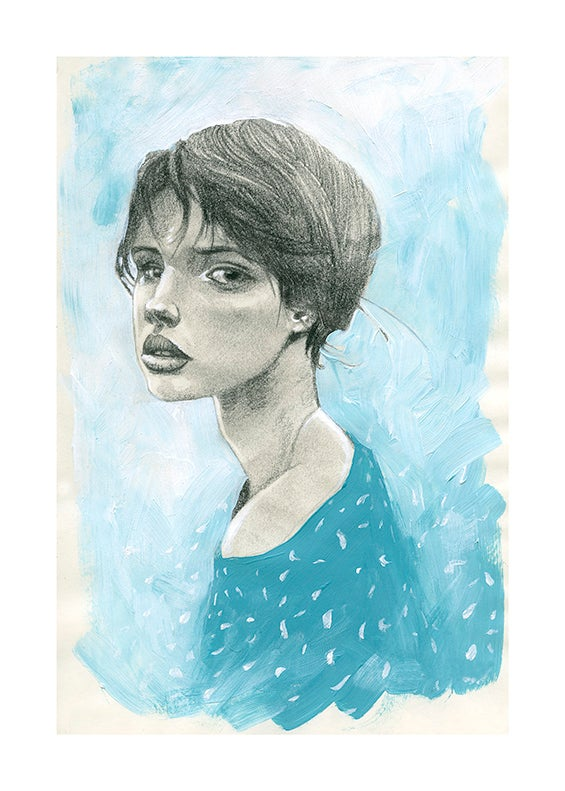 Image of Blue girl 1