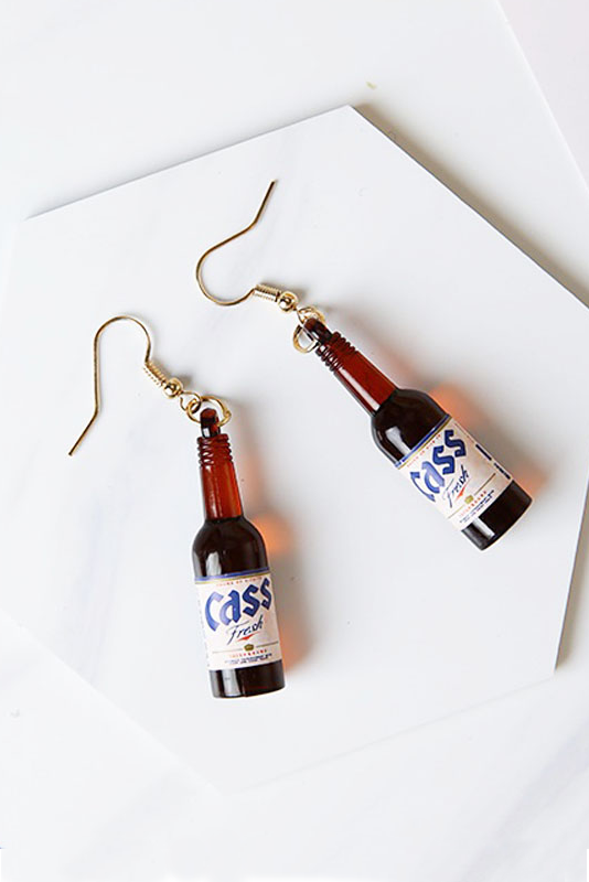 Image of KOREAN BEER EARRINGS