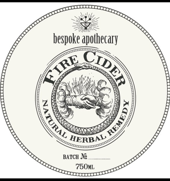 Image of Large/750 ML/25.5 oz. Organic FIRE CIDER!!