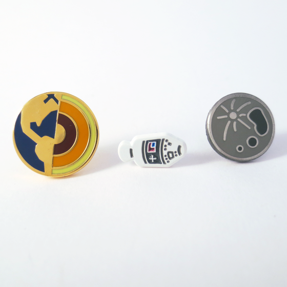 Image of Earth to the Moon pin set