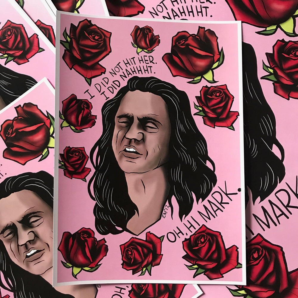 Image of Tommy Wiseau A4 Print