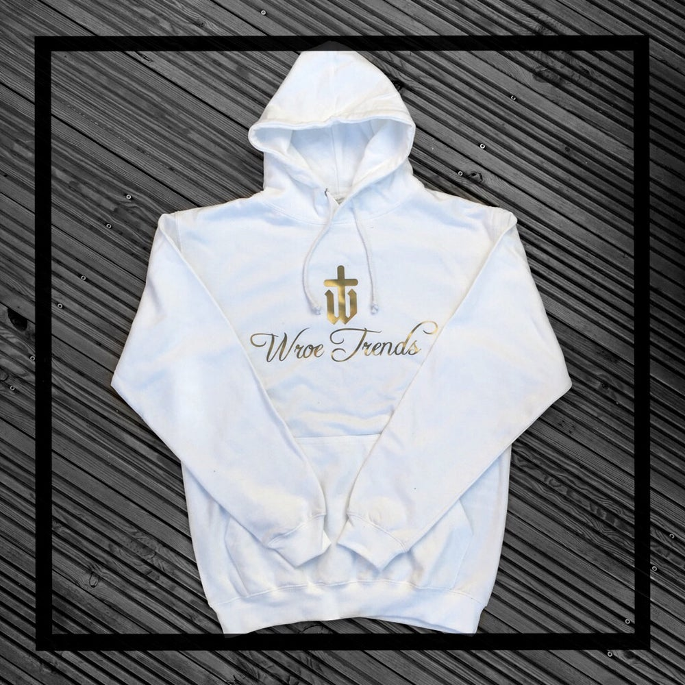 Image of GOLDEN HOODIE • WHITE
