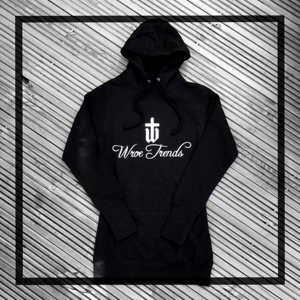 Image of GIRLS LONGLINE HOODIE • BLACK