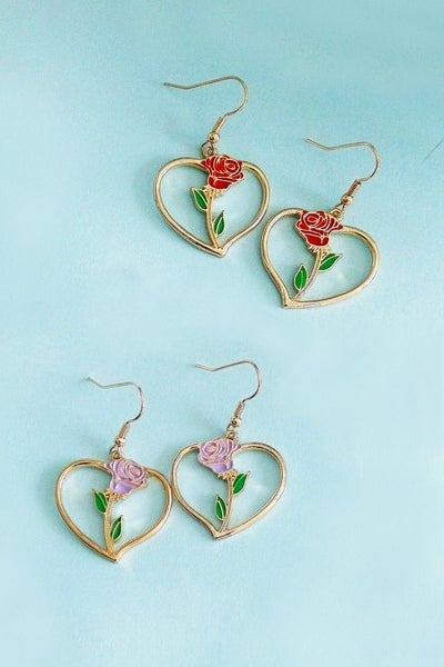 Image of ROSE HEART EARRINGS