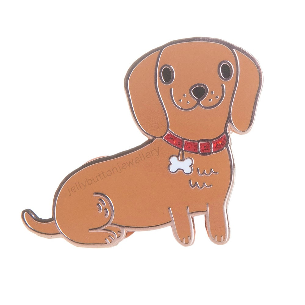 Image of Sausage Dog Enamel Pin