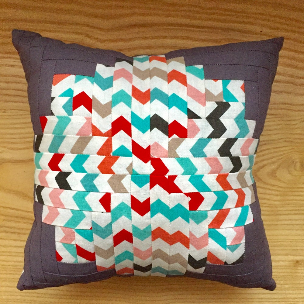 Image of Little log cabin pillow