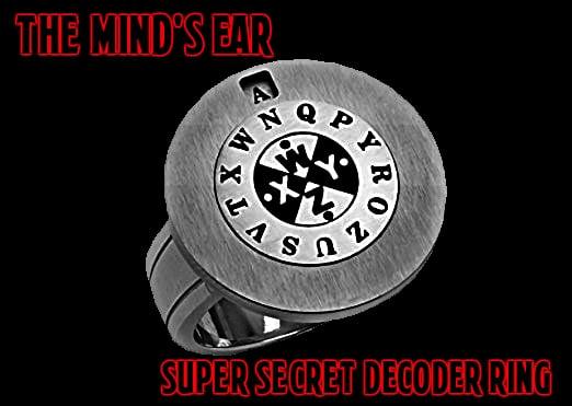 Image of The Mind's Ear Super Secret Decoder Ring