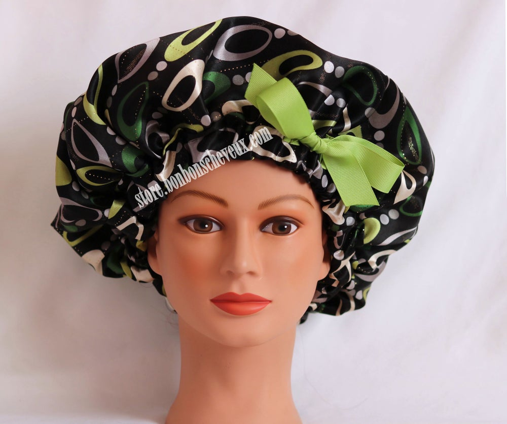 Image of Gold Mint Bonnet or Drawstring