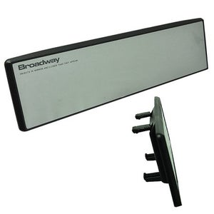 Image of Broadway Clip On Rear View Flat Mirror 300mm Clear Universal High Quality Safety
