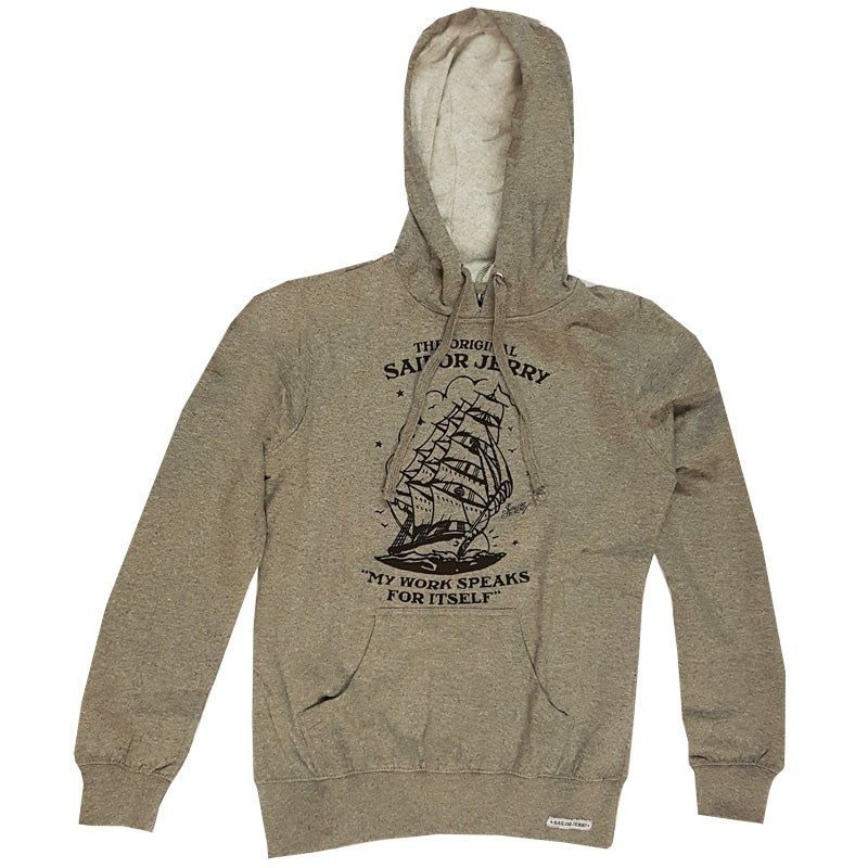 Image of Sailor Jerry Women's  Hoodie - Homeward Bound - Heather Grey