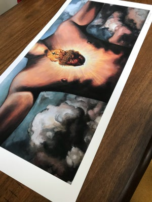 Image of Sacred heart (Large Print) 17x34 1/2 inch
