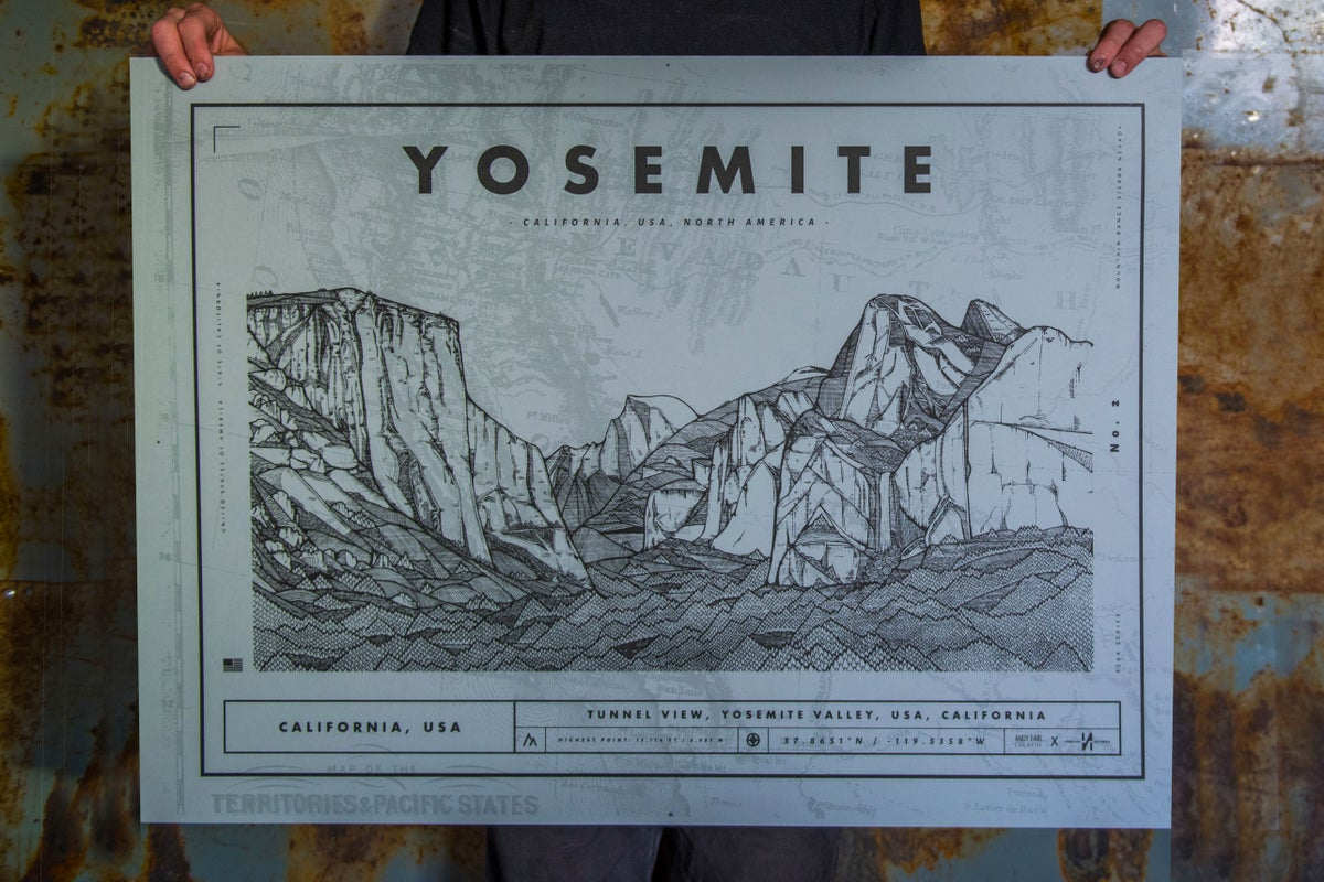 Image of YOSEMITE SCREEN PRINT