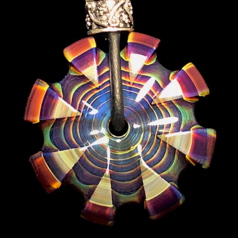 Image of Amber Purple CarverGem Pendant
