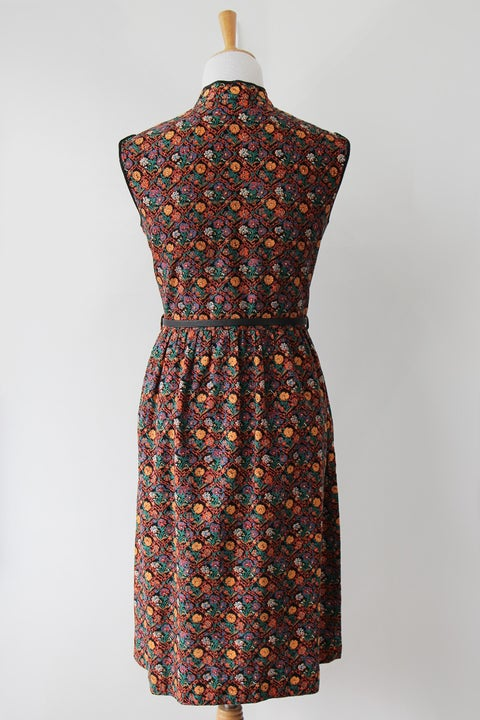 Image of SOLD Mandarin Collar Floral Tile Dress