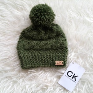 Image of Chunky Knit Pompom Hat