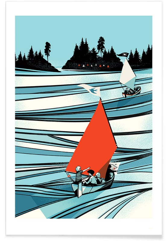 Image of Swallows And Amazons -  Arthur Ransome Print