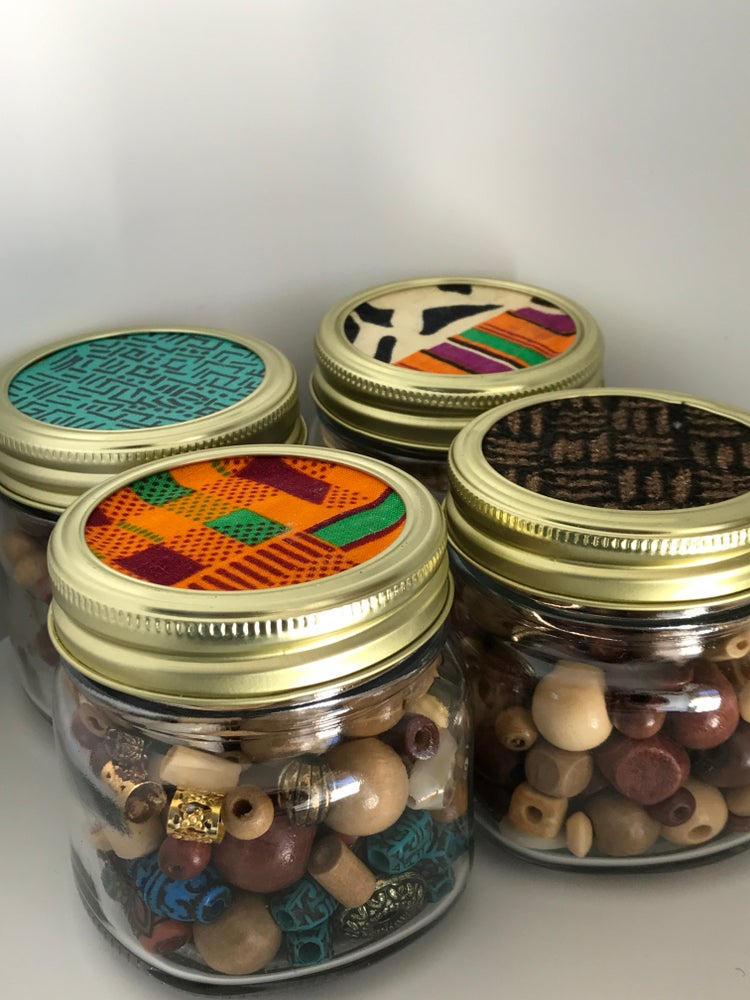 Image of The Hair Bead Jar (TRIBAL ONLY)