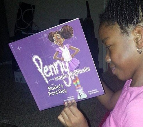 Image of Autographed copy Penny and the magic puffballs book 2- Roxie's first day