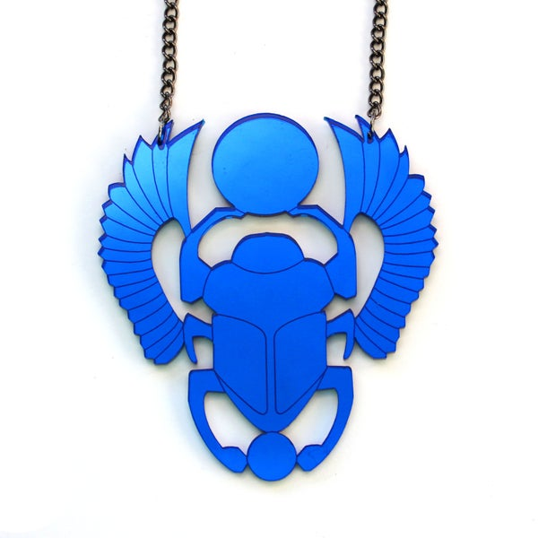 Image of Scarab Beetle Necklace