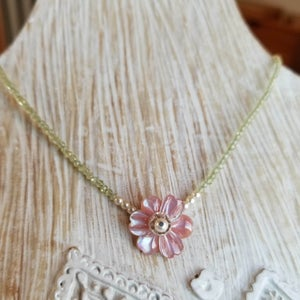 Image of Pretty Pink Posie Necklace