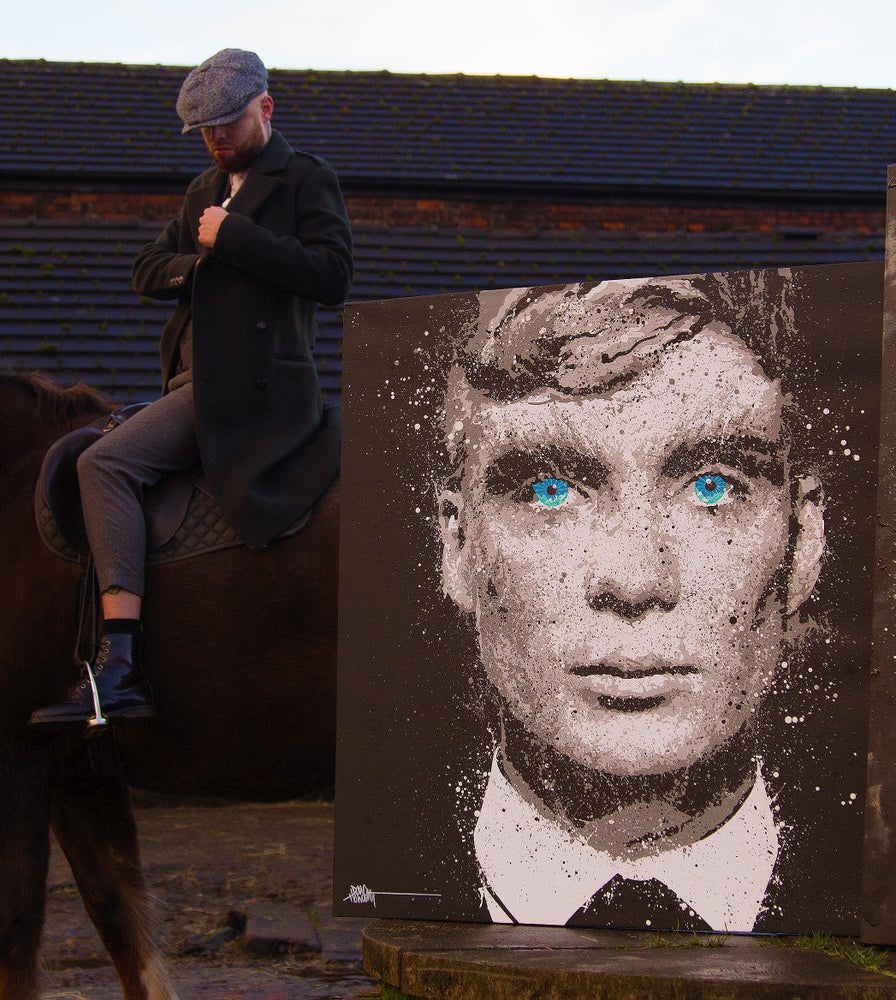 Image of Thomas Shelby II (ORIGINAL PAINTING)