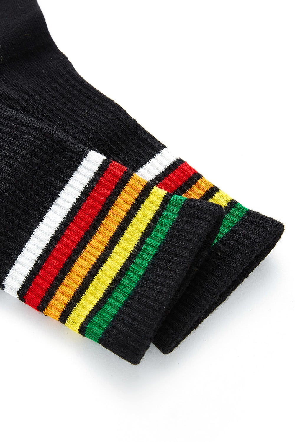 Image of DARK RAINBOW STRIPED SOCKS