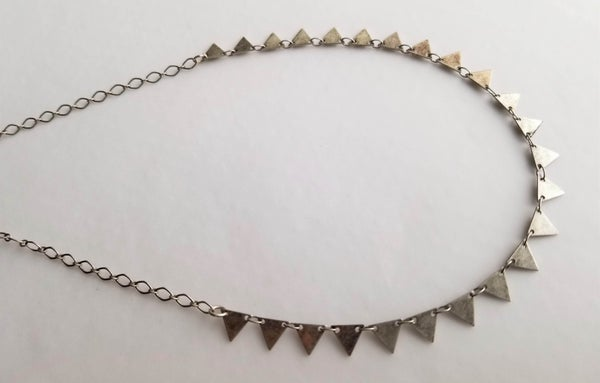 Image of Tiny Triangle Necklace - Silver