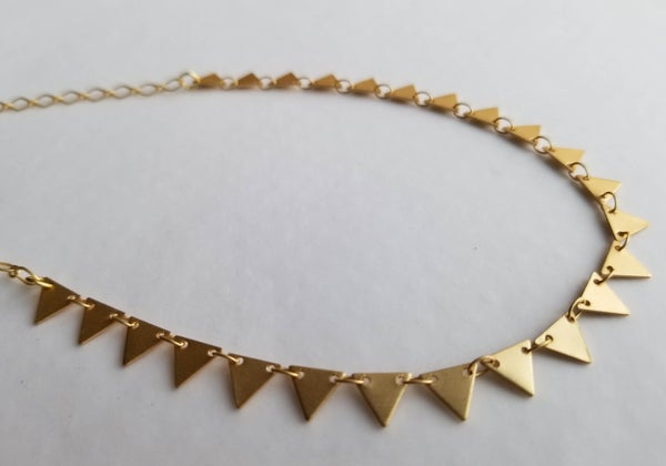 Image of Tiny Triangles Necklace - Gold