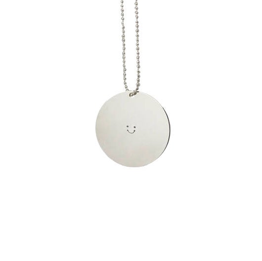 Image of COLLIER BIG FAT SMILEY ARGENT