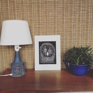 "Image of ""Uglemor"" linocut print"
