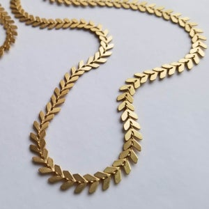 Image of Long Chevron Necklace