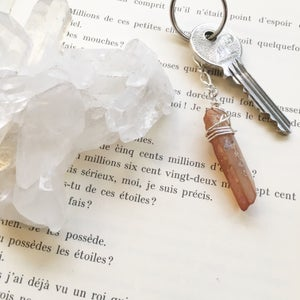 Image of Quartz Crystal Keyrings - 5 colours available